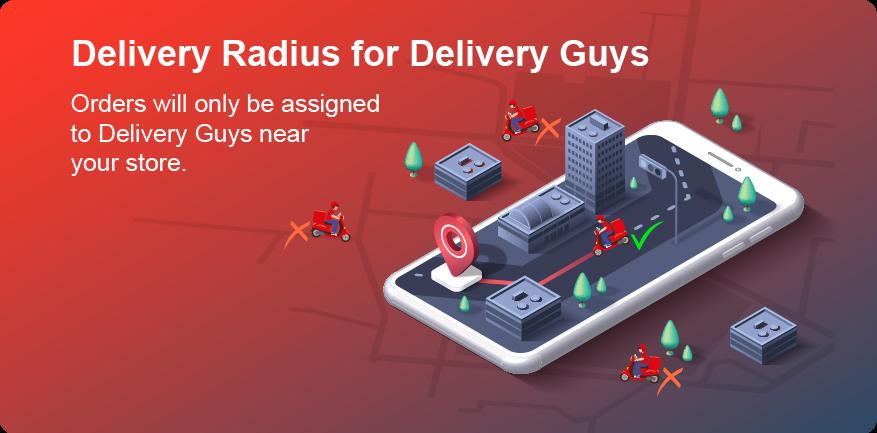 Delivery radius pro
